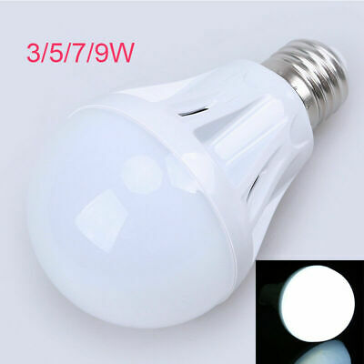 E27 3W 5W 7W 9W LED Globe Bulb Light Lamp White Microwave Motion Sensor Tool