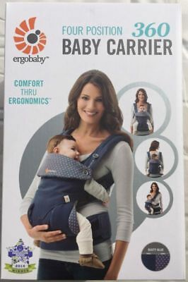 ERGOBABY 360 4 Position Ergo baby carrier / DUSTY BLUE / NEW in BOX!!!
