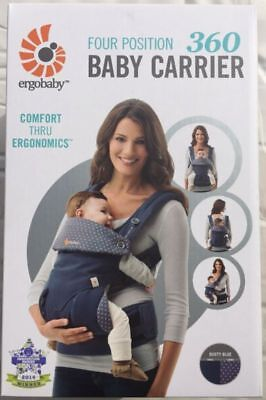 NEW in BOX!! ERGOBABY 360 4 Position Ergo baby carrier / DUSTY BLUE
