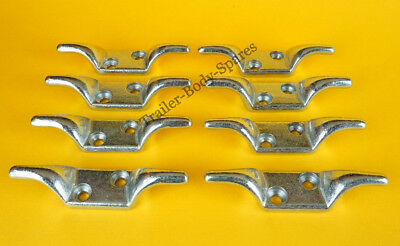 FREE UK Post - 8 x Bolt-on Double Rope Cleat Hook Trailer Cover Tie Down