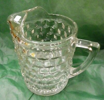 """Fostoria 'American' Pitcher, 70 OZ, 8"""" tall. with Ice Lip - Crystal - 1915"""