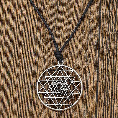 Talisman Sri Yantra Pendant Necklace Sacred Geometry Meditation Jewelry Unisex