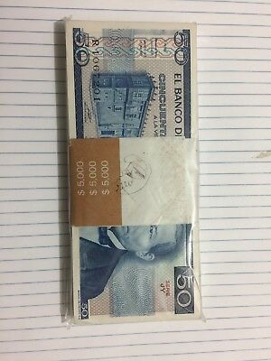 Mexico Notes Lot Of (100) $50 Pesos Mexican Banknotes  UNC 1981  serie JY