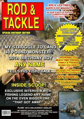 PERSONALISED FISHING BIRTHDAY Card Magazine Spoof - Any Name/Age/Message