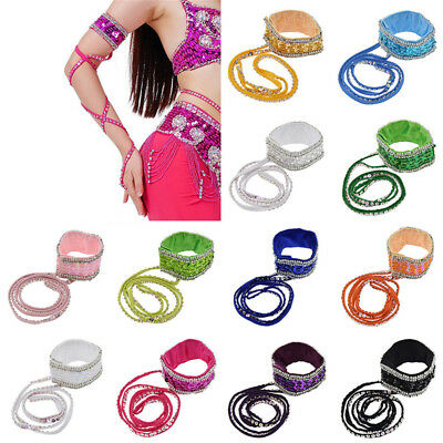 12 Colors Arm Sleeve Oriental Sequins Belly Dance Armband Dance Accessories 1 Pc