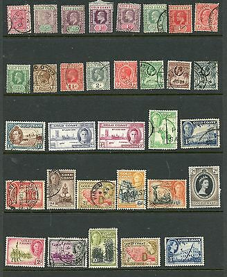GOLD COAST--Lot of 47 different stamps