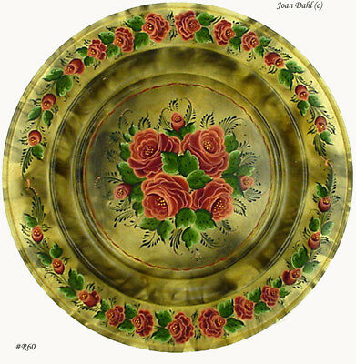 Smoked Plate With Flowers (R60)