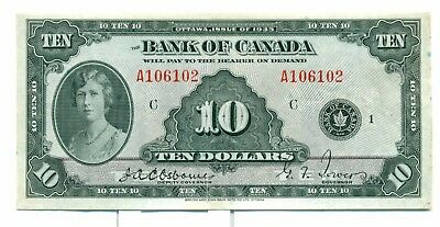 1935 $10 The Bank of Canada BC7 nice VF/EF A106102