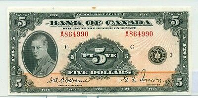 1935 $5 The Bank of Canada BC5 EF A864990