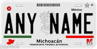Michoacan Mexico Any Name Number Text Novelty Auto Car License Plate C03
