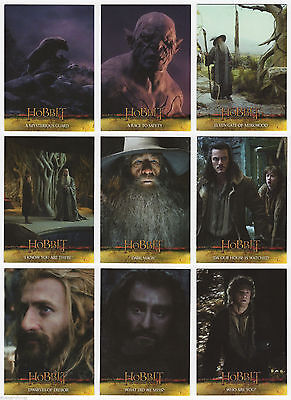 The Hobbit Desolation of the Smaug - Complete Card SET (1-72) 2015 @ Near Mint