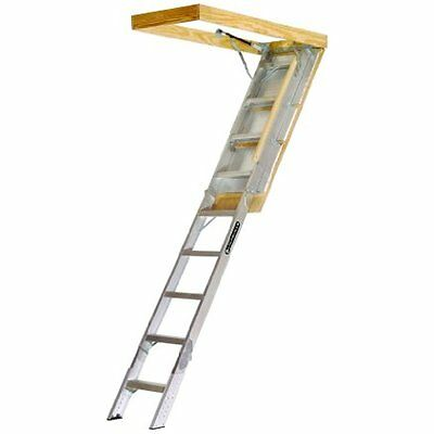 AA229GS Extension Ladders Elite Aluminum Attic 350 Pound Capacity 22.5-Inch By