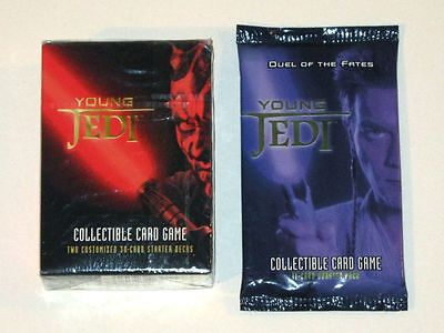 Star Wars YOUNG JEDI Collectible Card Game! DARTH MAUL Starter Set DUEL of FATES