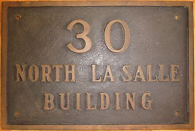 Antique Vintage Chicago Stock Exchange Sign Iconic History 30 North Lasalle Aic