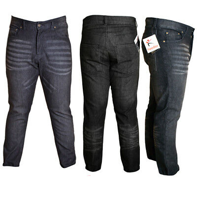 New Men's Boys Branded Fashion Denim Jeans Stretchable Regular Fit Black Jeans