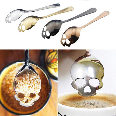 Skull Head Tea Spoon Dieter Especial Kitchen Supply Stainless Steel Gadget