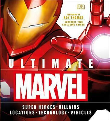 Ultimate Marvel: Includes two exclusive prints by Dk Hardcover Book Free Shippin