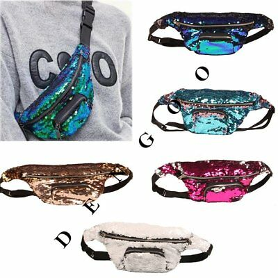 Glitter Bum Bag Travel Waist Fanny Pack Festival Money Belt Wallet Pouch