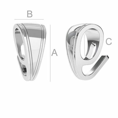 S5s18 High Quality pinch Bail pendant Sterling Silver 925 best for many crystals