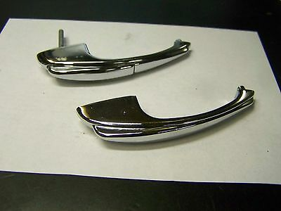 Vintage Matching Set Chrome Push Button-Pull Handles-Door-Cabinet Step Down