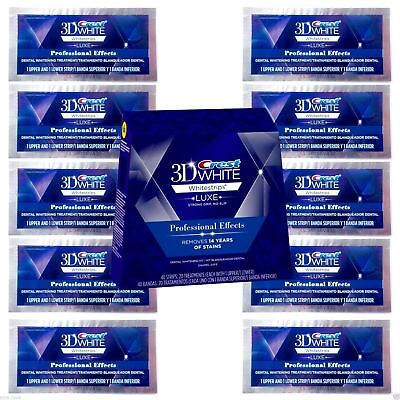 3D Whitestrips Luxe Professional Effects (20 Strips 10 Pouches)