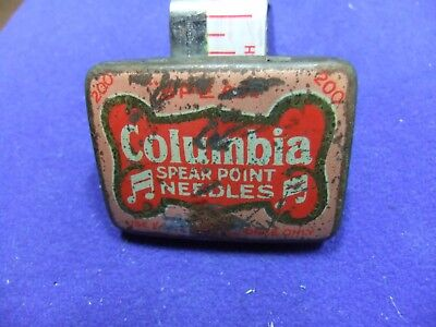 vtg needle tin columbia  200 spear point needles gramophone record
