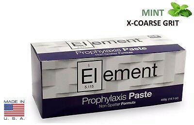 ELEMENT Prophy Paste Cups MINT X-COARSE 200/Box  Dental Non-Splatter W/Flouride