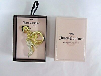 JUICY COUTURE $26 Clear Rhinestone Stiletto Shoe Key Chain Key Fob FAST SHIP!