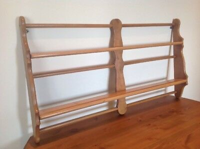 Ercol Light Elm Plate Wall Rack