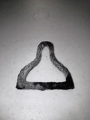 Civil war era dragoon belt buckle - made of iron - left in Utah by Union army