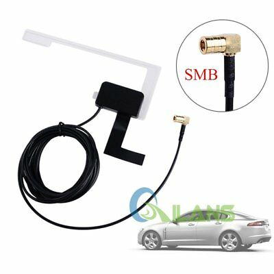 New 3M Universal DAB Digital Car Radio Aerial Antenna Glass Mount SMB Adapter 5V