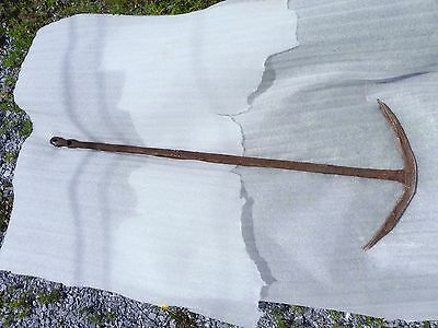 48 inch Forged Antique layered metal boat anchor found in richelieu river quebec