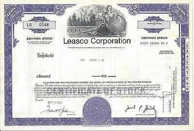 Leasco Corporation.........1979 Stock Certificate