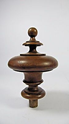 Newel Post Finial: Antique French Wood Carved Finial Architectural Salvaged #3