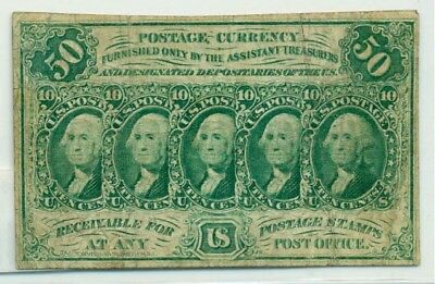 set of 6 1860's US Fractional Currency 3c,5c,10c,15c,25c,50c all fine/better