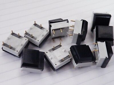 10 Pcs  Miniature Piano Key Tactile Switch SPST NO ITT Schadow Gold Flash CG07