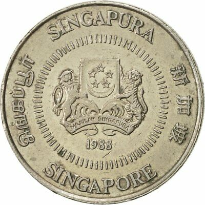 [#421195] Singapore, 50 Cents, 1988, British Royal Mint, AU(55-58)