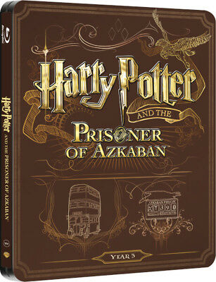 Harry Potter and the Prisoner of Azkaban Limited Edition Steelbook Blu-ray New