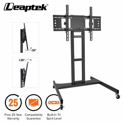 "LED/PLASMA/LCD TV STAND MOUNT BRACKET MOBILE TROLLEY WITH WHEELS 32"" to 65"""