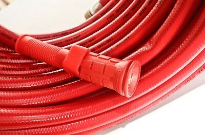 Red Fire Hose 20mm 36 meter long Fire Fighting. Choice of 3 types of nozzles