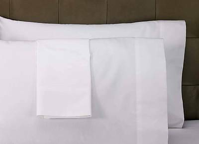 2 Pillowcases Bright White Heavy weight Brushed Microfiber Standard wrinklefree