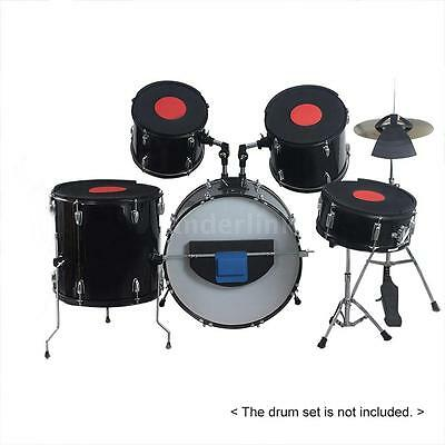 Drum Set Kit Accessory with 5pcs Drum Mutes 3pcs Cymbal Mutes Practice Pads G1O5