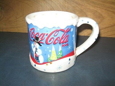 2003 Houston Harvest Coca-Cola Christmas Large Mug--Snowman