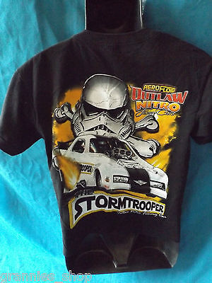 Drag Racing Outlaw Nitro Funny Car  Boys T Shirt Size 12 STORMTROOPER