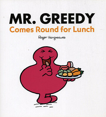 ROGER HARGREAVES - Mr. Greedy Comes Round For Lunch (Large PB)
