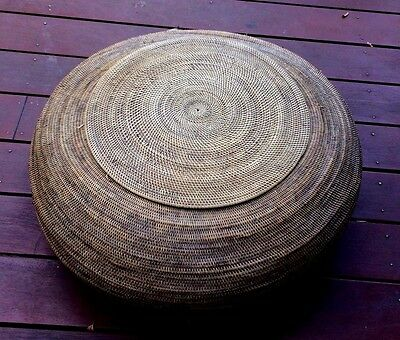 VINTAGE HAND MADE RATTAN BASKET from Lombok Island Indonesia