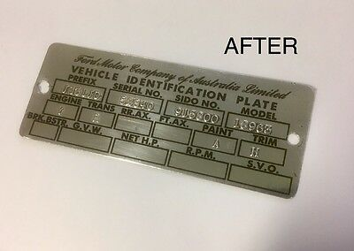 XR XT XW GT Ford Falcon Fairmont ID Compliance Plate Tag Stickers