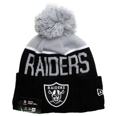 Oakland Raiders Beanie. New Era KIDS NFL Sideline Knit Beanie - Raiders 40% OFF