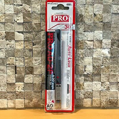 NT Cutter Pro AD-2P Stainless Steel Graphic Knife Utility Auto Lock Red Dot