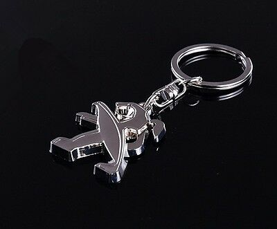 New 3D Car Logo Keyring Keychain Metal Pendant Key Holder for Peugeot